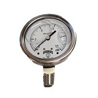 """Pressure Gauge 0-15 psig, 2-1/2"""""""