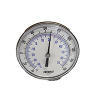 """Temperature Indicator, -40-160°F, 2-1/2"""" lg. for Process piping"""